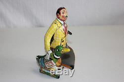 Rare Vintage Marx Tin Litho Wind Up The Butter and Egg Man Works EX Must L@@K