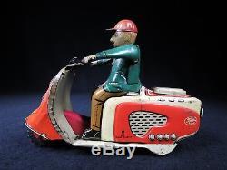 Rare Vintage Rabbit Scooter Motorcycle Bike 7 Usagiya Japan Tin Litho Friction