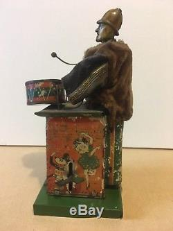 Rare Vintage tin litho DRUMMER boy wind up toy BETTY BOOP Mickey Mouse chaplin