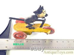 S. G. Gunthermann Tin Lithographed Windup Felix the Cat on Scooter