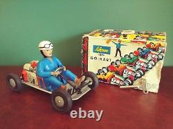Scarce 1960's Schuco 1055 Tin Wind-up Go Kart with Or. Box