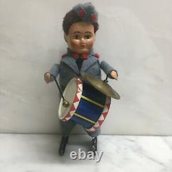 Schuco Nos 985/3 Wind-up Soldier Drum & Symbols With Original Box & Key. Sweet