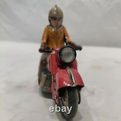 Schuco Red Motorcycle Charly 1005 Tin Litho Windup German limited re- release