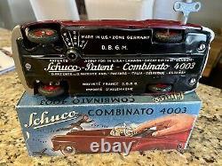Schuco Vintage Maroon Combinato 4003 Roadster Tin Wind Up Toy Car
