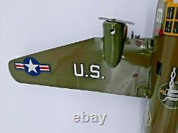 Spectacular Vintage Marx Tin Wind Up US Army Bomber Plane Aeroplane Original Box
