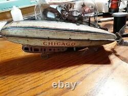Strauss Zeppelin, Chicago, Vintage Wind-up Toy