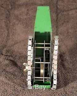 Structo Vintage Wind-up Clockwork Pressed Steel WW1 Tank