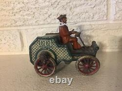 Tin Litho Toy Lehmann Germany Lo Lo flywheel driven Automobile C1914