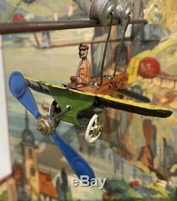 Tin Toys Germany, No German, France 1904, Nouveau Jeu Circuit Distler Plane Video