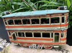 Tin Toys Germany, Orobr trolley car 1910, Works, Please Watch Video