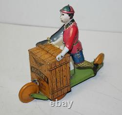 Tin Wind Up Kid Flyer Lithograph Toy Behrend & Rothschild
