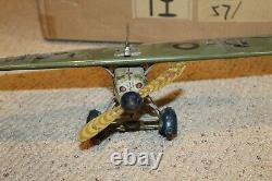 TippCo TC 1029 Tin Windup Litho Airplane 1930's