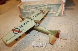 TippCo TC-1029 Tin Windup Litho Airplane 1930's with Box