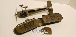 Tippco E-27, Double Decker, Wind Up Tin Toy, Gun & Sparks Pre-War Germany 1930's