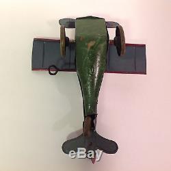 VERY RARE! Ferdinand Strauss Corp 43 Mail Plane Tin Wind Up Toy Vintage