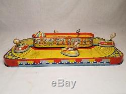 VERY RARE VINTAGE 1950's CHEIN & CO TIN WIND UP PLAYLAND WHIP TOY