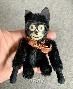 VERY RARE Vintage Schuco Black Mohair Tumbling FELIX THE CAT Germany NR LOOK