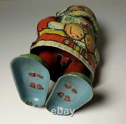 VINTAGE 1930's CHEIN TIN LITHO WINDUP SANTA CLAUS