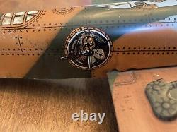 VINTAGE 1940'+ WWII LANCASTER BOMBER TIN WIND UP AIRPLANE Made in USA MARX