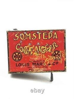 VINTAGE MARX 1920s SOMSTEPA COON JIGGER WIND-UP DANCER AMERICANA ORIGINAL 8
