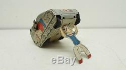 VINTAGE MARX LINEMAR 1950s POPEYE TIN LITHO WIND-UP ROLLOVER TANK