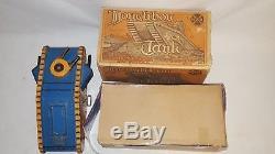VINTAGE MARX WW1 DOUGHBOY TANK WIND-UP METAL TOY WithORIGINAL BOX-RARE