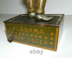 Very Neat Vintage Strauss Tin Litho Tombo Alabama Coon Jigger Wind Up Toy 1910