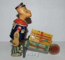 Very Neat Vintage Tin Wind Up Marx Popeye Express