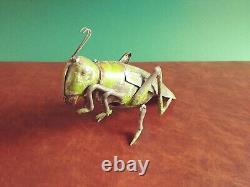 Very Rare 1900's Eberl Tin Wind-up Hopping Grasshopper Tinplate SG Gunthermann