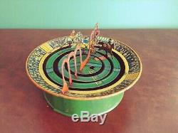 Very Rare 1920's Distler JDN Tin Wind-up Horse Racing Track Game
