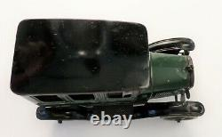 Vintage 1920s Bing Two Tone Green & Black Tin Litho Windup Model T Sedan