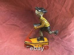 Vintage 1920s Marx Smitty Scooter Tin Wind Up Toy RARE HIGHEND PIECE