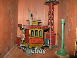 Vintage 1922 Toonerville Trolley Windup Tin Toy Good Graphics, Germany Made