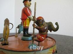 Vintage 1925 Louis Marx Ring-a-ling Circus Tin Litho Wind Up Toy-pat Pend/c-info