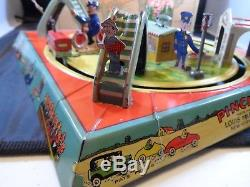 Vintage 1927 Marx Pinched Wind-up Tin Lithographed Toy Withbox