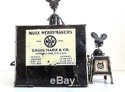 Vintage 1929 Marx Merrymakers Band Wind-up Tin Toy -Working