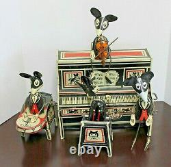 Vintage 1929 Marx Merrymakers Piano Band Mice Players Tin Toy Wind-up