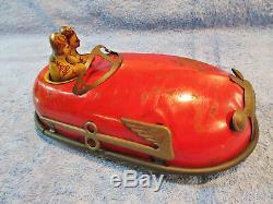 Vintage 1930's Lindstrom Skeeter Bug Doodlebug Tin Wind-up Bumper Car
