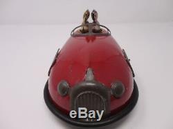 Vintage 1930's Lindstrom Skeeter Bug Tin Wind Up Bumper Car