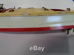 Vintage 1930's Lionel Prewar Tin Wind-up Boat Hj49 Vintage Rare Toy