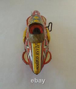Vintage 1930's MARX Flash Gordon Rocket Fighter Wind-Up Tin Toy Space Ship
