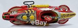 Vintage 1930`s Marx Toy Flash Gordon Rocket Fighter Space Ship Tin Litho Windup