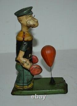 Vintage 1930s Chein Popeye Floor Punching Bag Mechanical Toy