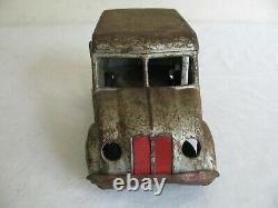 Vintage 1930s Kingsbury Toys Press Steel Windup Divco Bordens Milk Truck Works