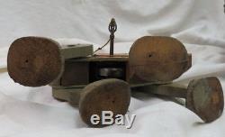 Vintage 1931 Fisher Price wood wind-up # 350 Go-n-Back Mule / walking toy WORKS