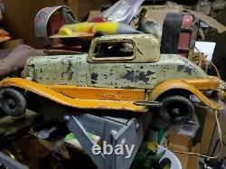 Vintage 1932 Pierce Arrow Girard Wind-up Toy Car RARE