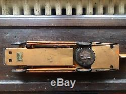 Vintage 1934 Kingsbury Motor Driven Pressed Steel Golden Arrow Wind-Up Tin Toy