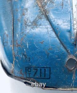 Vintage 1936 Marx Marvel Car Reversible Bumper Blue Metal Coupe Windup with Key