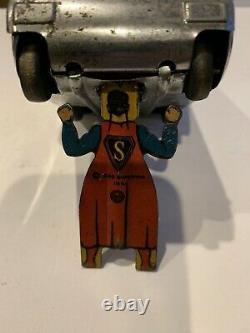 Vintage 1940 Superman Marx Tin-Litho Rollover Tank! RARE