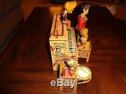 Vintage 1940's Unique Art Li'l Abner And His Dog Patch Band Tin Windup Toy
